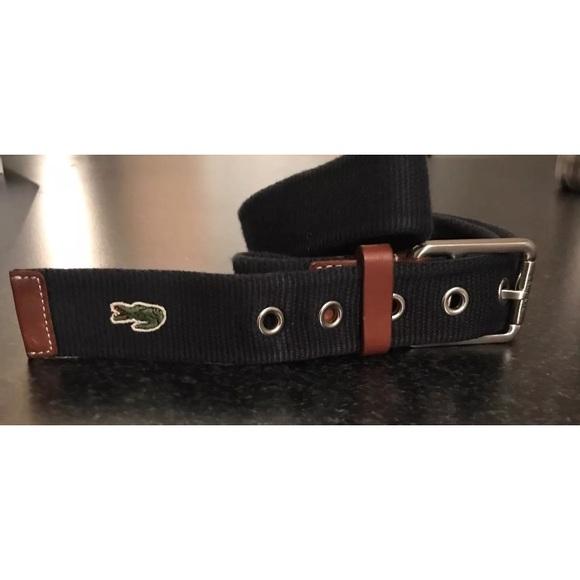 72d42fd5ad26b Lacoste Man Belt Casual Genuine Leather Textile